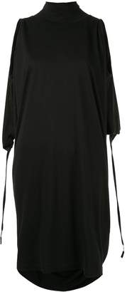 Taylor Controlled turtleneck draped dress