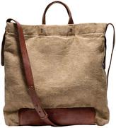 Washed Linen Crossbody Bag