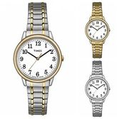 Timex Easy Reader Dress Watch | Stainless Steel White Dial Indiglo | Women's