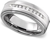 Triton Men's Ring, Tungsten Diamond Row (1/4 ct. t.w.)