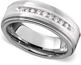 Triton Men's Ring, Tungsten Diamond Row (1/4 ct. t.w.)