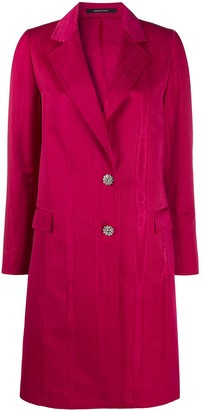 Tagliatore Crystal Buttoned Long Blazer