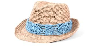 Physician Endorsed Women's Malia Crochet Raffia Sun Hat with Macrame Trim Rated UPF 30 for Sun Protection