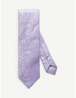 Eton Paisley-jacquard silk-blend tie