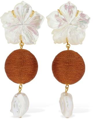 Lizzie Fortunato Paper White Drop Earrings