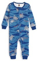 Tea Collection Infant Boy's Loggerhead Turtle Fitted One-Piece Pajamas