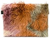 MM6 MAISON MARGIELA faux fur clutch