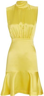 Saloni Fleur Silk High Neck Dress