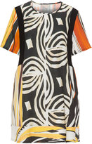 Isolde Roth Plus Size Printed linen-blend tunic