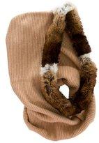 Cassin Fur-Trimmed Rib Knit Hood