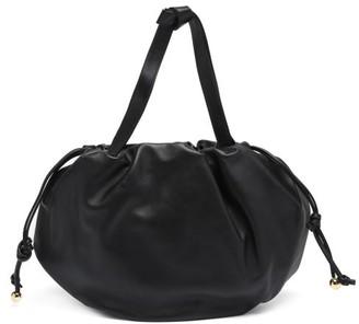Bottega Veneta The Bulb Medium Drawstring Leather Shoulder Bag - Black
