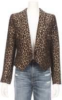 Smythe Anytime Jacquard Leopard Blazer