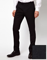 Asos Skinny Fit Suit Pants in Polywool