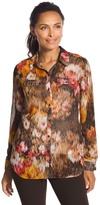 Chico's Autumn Floral Joceline Button Down Shirt
