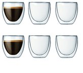 Bodum PAVINA Double Walled Thermo Glasses 0.08 L, 2.5 oz, Set of 6