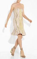 Herve Leger Sabra Lace-Up Beaded Bandage Dress