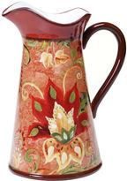 Certified International Spice Flowers Pitcher