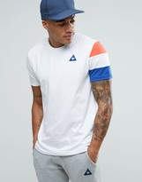 Le Coq Sportif Tricolore T-Shirt In White 1710456