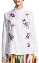 Etro Embroidered Button Front Top