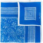 Kiton paisley print pocket square - men - Linen/Flax - One Size