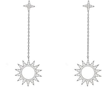 Latelita Sun Day & Night Drop Earrings Silver