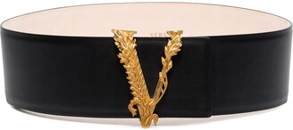 Versace Virtue leather belt