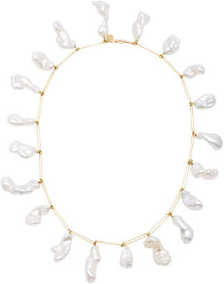 Mallary Marks Rare Attachment 18K Gold Pearl Necklace