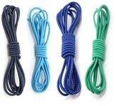 4 Pair No Tie Shoelaces - WinCret Elastic Quick Sports Laces - High Quality Replacement No Tie Laces for Mens, Womens, Seniors & Kids Shoes, Cleats, Boots