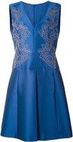Alberta Ferretti floral embroidered sleeveless dress - women - Polyester/Silk/Acetate/Rayon - 46