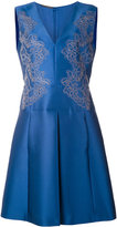 Alberta Ferretti floral embroidered sleeveless dress - women - Silk/Polyester/Acetate/Rayon - 46