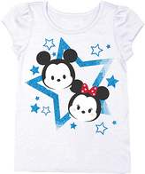 Freeze Disney Tsum Tsum White Mickey & Minnie Tee - Toddler