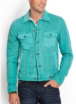 GUESS Lucas Canvas Colored Denim Jacket in Arachino Wash