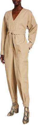 Givenchy Cotton V-Neck Utility Jumpsuit