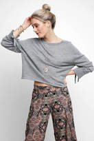 Neely Scoop neck Rouched Sleeve Pullover
