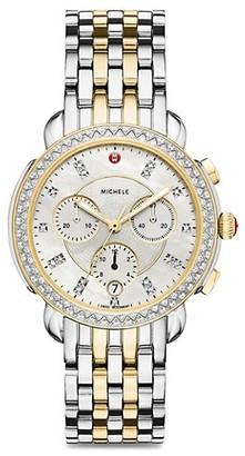 Michele Sidney Chronograph Bracelet Watch