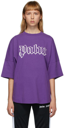 Palm Angels Purple Logo T-Shirt