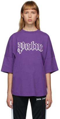 Palm Angels Purple Logo T-Shirt