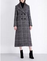 Vilshenko Evie checked virgin wool and mohair-blend coat