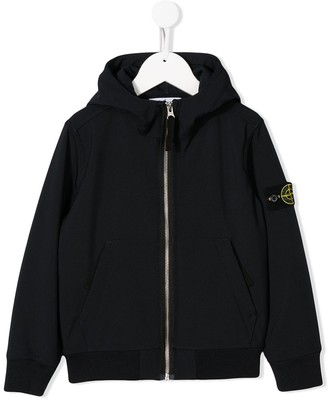 Stone Island Junior TEEN soft shell hoodie