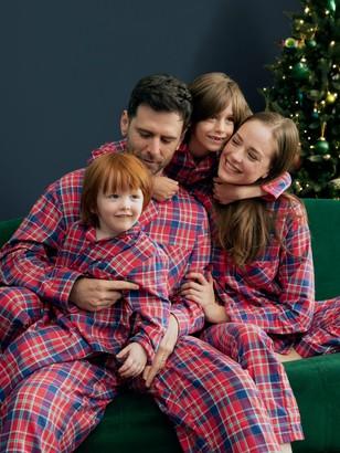 John Lewis & Partners Check Cotton Pyjamas, Red