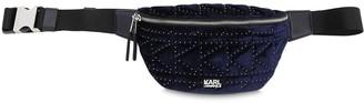 Karl Lagerfeld Paris Quilted Velvet & Leather Belt Bag