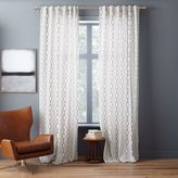Cotton Canvas Diamond Stripe Curtain - Stone White/Slate