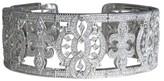 Judith Ripka 18K White Gold and 5ct Diamond Cuff Bracelet