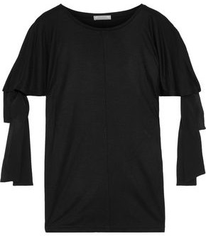 Nina Ricci Tie-detailed Jersey T-shirt