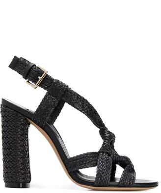 Casadei woven-effect 115mm sandals