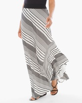 Chico's Stripe High-Low Maxi Skirt