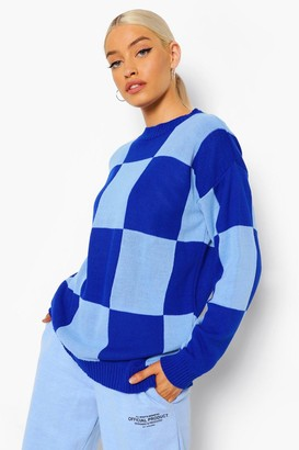 boohoo Colour Block Check Jumper