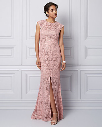 Le Château Sequin & Lace Illusion Gown