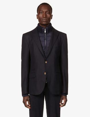 Eleventy Single-breasted stretch-wool jacket