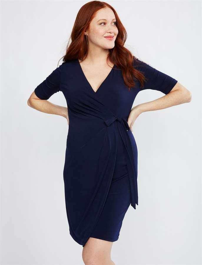 08578155a Navy Blue Maternity Dress - ShopStyle